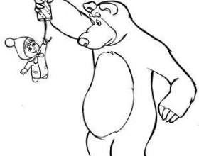 Маша і ведмідь. Зимові розмальовки фото