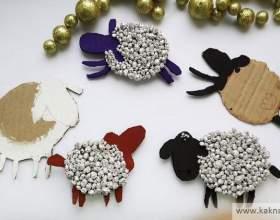 """Виріб """"овечка"""" на новий рік фото"""